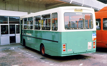 Rear aspect of another Optare bodied Leyland Cub from the batch of vehicles which included 1807
