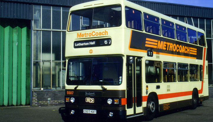 5507 (C507 KBT) pictured early in life, at rest outside Bramley Garage in Leeds